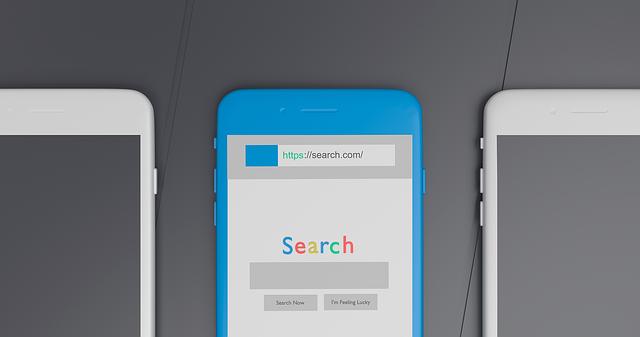 bílé mobly, modrý mobil, search