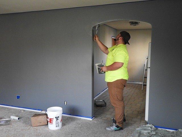 Interiér při rekonstrukci